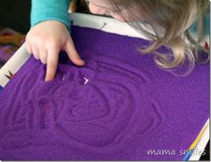 Use sand (or cornmeal) on a tray for fun letter practice!