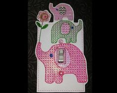 Home of quality, affordable Machine embroidery designs for the home embroidery enthusiast Switch Plate Covers, Switch Plates, Light Switch Covers, Machine Embroidery Patterns, As You Like, Elephants, Vip, Stitching, Sewing