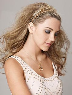 A sparkly braided headband is perfect to add some detail to your prom 'do!