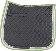 Grey/Ecru/Light Green Saddle Pad