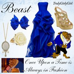 """Disney Style: Beast"" by trulygirlygirl Disney Prom Dresses, Disney Princess Outfits, Disney Themed Outfits, Prom Outfits, Movie Outfits, Dress Prom, Moda Disney, Disney Mode, Walt Disney"