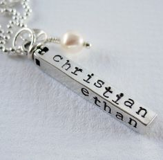 Swivel Bar  Personalized Mom Necklace  by PatriciaAnnJewelry, $68.50