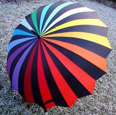 Essential Equipment when Rainbows are in the Sky Fancy Umbrella, Uv Umbrella, Umbrella Cards, Umbrella Painting, Umbrella Wedding, Travel Umbrella, Folding Umbrella, Under My Umbrella, Cute Umbrellas
