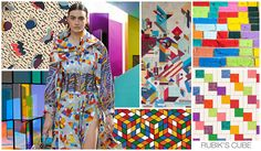Original Art Surface Inspiration, Women's, F/W 2015-16, RUBIKS CUBE / Rubik's Cube is where the fun comes into play, as we see 80s and 90s inspired geometrics: seemingly random in shape, we offer two very different graphics.