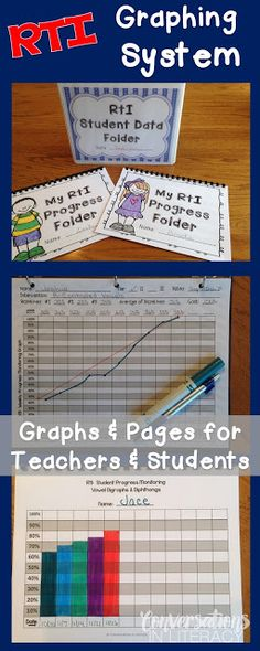 RTI Graphing Binder System- graphs, parent notes, group organization, etc...All you need for students & teachers to track progress!$!