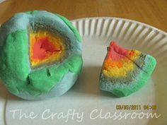 This is a fun way for children to learn about the different layers of the earth!   Make your own playdough for the lesson.   super soft recipe!
