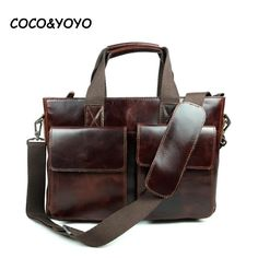 93.88$  Buy now - http://alipi5.worldwells.pw/go.php?t=32288194469 - 2016 New Arrival Fashion Genuine Leather Handbags High Quality Business Men Shoulder Bags Casual Messenger Bags sacoche homme 93.88$