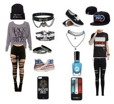 """""""Untitled #56"""" by toriskye17 ❤ liked on Polyvore featuring Miss Selfridge, Vans, Wet Seal, Sally Hansen and Converse"""