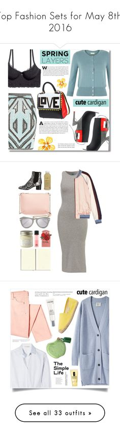 """""""Top Fashion Sets for May 8th, 2016"""" by polyvore ❤ liked on Polyvore featuring Hervé Léger, Monsoon, Alepel, Les Petits Joueurs, Betsey Johnson, cutecardigan, springlayers, Maison Scotch, Isabel Marant and Ted Baker"""