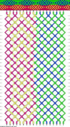 18 strings, 32 rows, 4 colors, bracelet