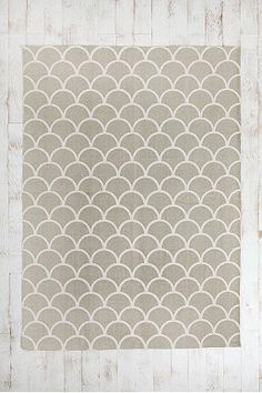 Cotton stamped scallop rug from Urban Outfitters