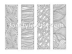 Zendoodle Bookmarks DIY, Zentangle Inspired Printable Coloring, Digital Download, Sheet 10