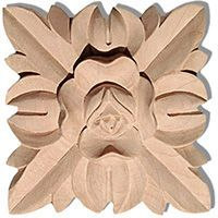 Carolina square wood rosettes are carved in a deep relief with rose and leaf motif. This rosettes are hand carved by skilled craftsman from premium selected hardwoods Craft Wood Pieces, Wood Rosettes, House Trim, Inviting Home, Studio Room, Flower Center, Red Oak, Custom Cabinets, Hand Carved
