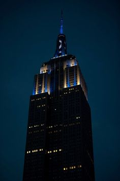 The Empire State Building was lit up in tribute to The Captain! Derek Jeter received one final tribute after his last game on Sunday, Sept 28th. The tower was lit in blue and white, showcasing the number 2 near the top.