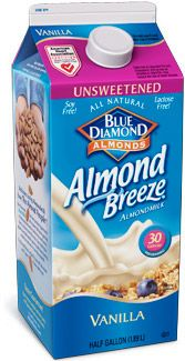 I love this stuff!!  0 carbs, 30 calories a cup, 50% more calcium than milk.     Refrigerated Almond Breeze Unsweetened Vanilla