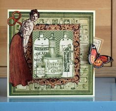 Graphic45 Olde Curiosity Shoppe card by Bear@pea shared on the Two Peas in a Bucket gallery! #graphic45 #cards