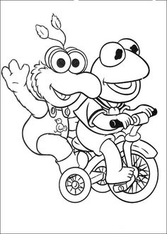 Muppets Fargelegging. Tegninger 23