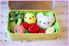 :: Crafty :: Clay :: Food :: Polymer Clay Bento Box by ChloeeeeLynnee97
