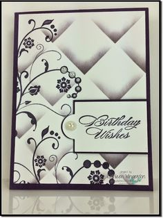 Stampin' Up! -- Flowering Flourishes - faux tile stamping technique - Video tutorial in the post.