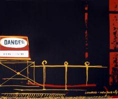 danger, rising elevator silk screen Saatchi Online, Elevator, Online Gallery, My Arts, Silk