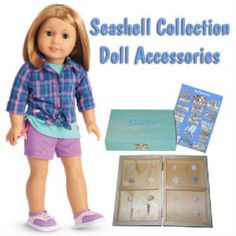 Doll Sized Sea Shell Collection Accessories