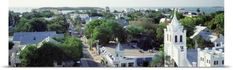 Poster Print Wall Art Print entitled Florida, Key West, The Conch Republic, Aerial view of Duval street, None