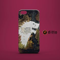WINTER COMING Win Die Design Custom Case by ditto! for iPhone 6 6 Plus iPhone 5 5s 5c iPhone 4 4s Samsung Galaxy s3 s4 & s5 and Note 2 3 4