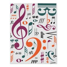Music Note Posters- Rainbow | Music notes and Note