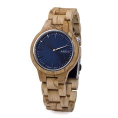 Wooden bow ties, wooden watches and other wooden accessories from one place. Handmade wooden bow tie is the easiest way to be stylish. Wooden Watch, Gold Watch, Watches, Birch, Curly, Accessories, Wooden Clock, Wristwatches, Clocks