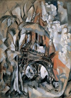 Robert Delaunay. Eiffel Tower with Trees (Tour Eiffel aux arbres). summer 1910 - Guggenheim Museum