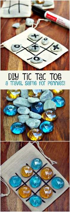 DIY Tic Tac Toe Game Board for only Pennies