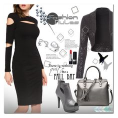 """""""Little black dress"""" by jecakns ❤ liked on Polyvore featuring Christian Dior, outfit, blackandsilver, falltrend and blackdres"""