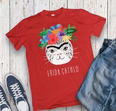 6b63ec2c5e2 Frida Cathlo Funny cat t-shirt for cat lovers Cute Shirt Sayings