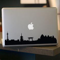 Kyoto Skyline Decal  Sticker  For Car Window  Laptop by urbandecal, $12.95
