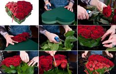 Heart Shaped Flower Arrangement.....Best Homemade Valentines Gifts for Her To Express Your Love #DIYCrafts