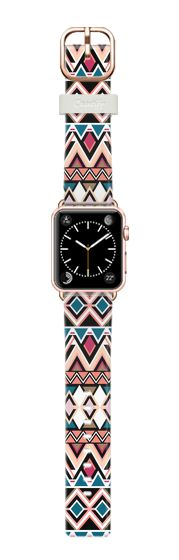 Casetify Apple Watch Band (38mm) Casetify Band - Mountain Nativo Tribal by Organic Saturation #Casetify