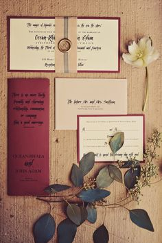 dramatic and elegant touches of red in this paper suite  glam-highlights_tamiz-photography_01