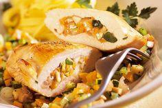 Das Rezept für Gefüllte Putenbrust mit allen nötigen Zutaten und der einfachsten Zubereitung - gesund kochen mit FIT FOR FUN