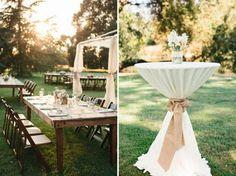 Awesome neutral backyard wedding
