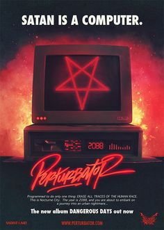 "Perturbator ""Dangerous Days"" Poster   PERTURBATOR"
