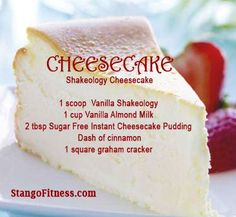 Yummy Cheesecake Recipe with Shakeology. A healthier option to the classic favorite! For more information about Shakeology, please log on to www.shakeology.com/kellywins