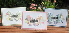 stempel einfach - Schmetterlinge von Stampin Up