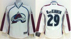 Mackinnon #29 white women nhl jersey