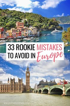 Visiting Europe for the first time? Don't fall victim to some of the biggest travel mistakes people make on their Europe trip. These tips will tell you everything you need to know about what not to do in Europe, from eating the bread to booking ahead European Travel Tips, Europe Travel Guide, European Vacation, Travel Guides, Traveling Tips, Trip To Europe, Summer In Europe, Travel Through Europe, Europe Europe