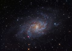 M33 is one of the closest large galaxies to our own. Imaged from Guelph Ontario by Canadian astrophotographer Ron Brecher.