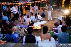 campfire wedding. photos by chrisman studios. amazing inspiration on this site.