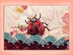 I ❤ ribbon embroidery . . . How to embroider a silk ribbon ladybug. www.craftyattic.com shows you how to embroider this cute little silk ribbon ladybird/ladybug. Learn how to do french knots, ribbon stitch & reverse ribbon stitch in this straightforward film.