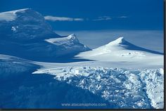 photo: blue ice and snow in Antarctica