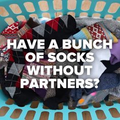 Don't Throw Out Those Single Socks! #DIY #hacks #socks #clothes #simple