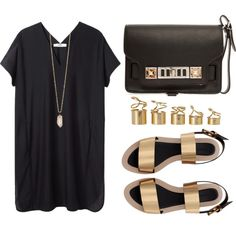 #OOTD! The perfect little black dress ensemble from member baludna on #Polyvore